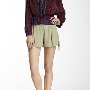 Free People Solid Tie Short Olive Green Small